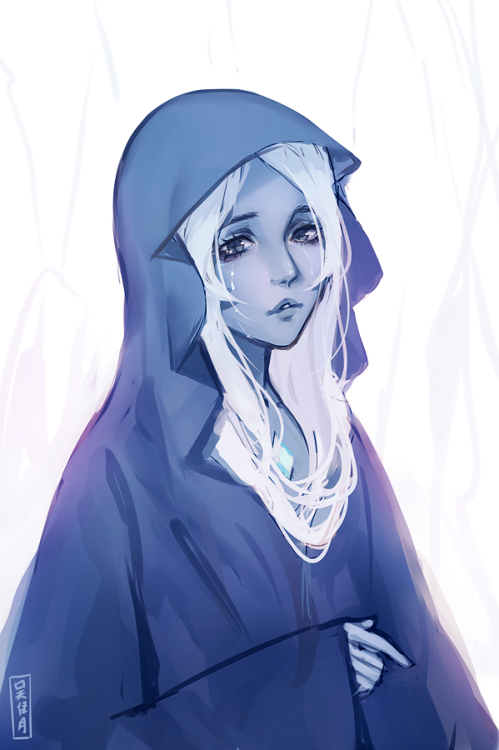 """""""'What a strange planet.' """" Blue diamond wip! Man Steven Universe's voice actors are so good. When she started speaking- ahhhhhhh I love how soft her voice is."""