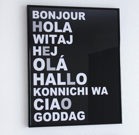 HELLO Languages Typography