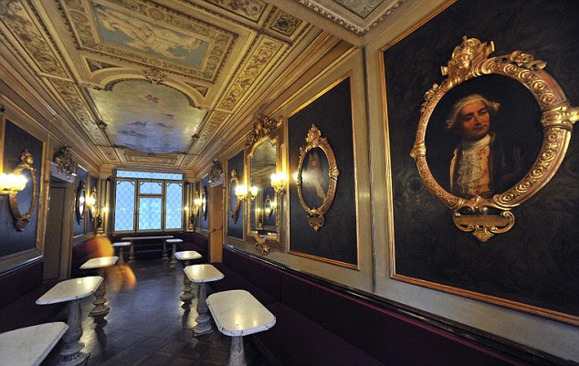 The Hall of the Illustrious Men at the Caffe Florian on San Marco Square in Venice, Italy, has reopened after an extensive restoration