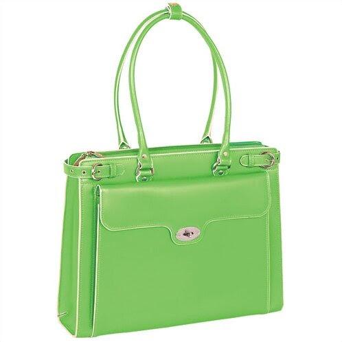 McKlein USA 94831 - W Series Winnetka Italian Leather Women's Briefcase in Green