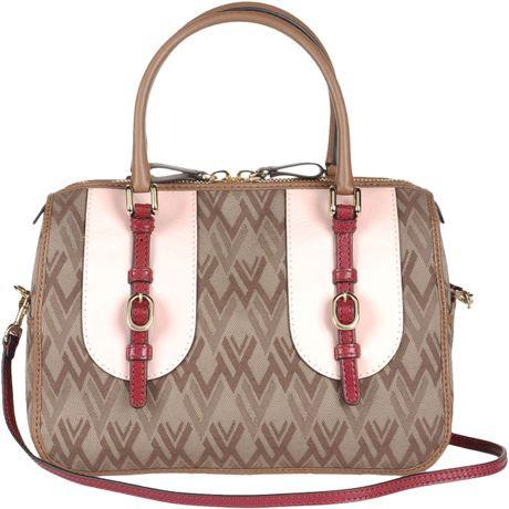 Valentino Medium Fabric Bag in Brown (grey) - Lyst