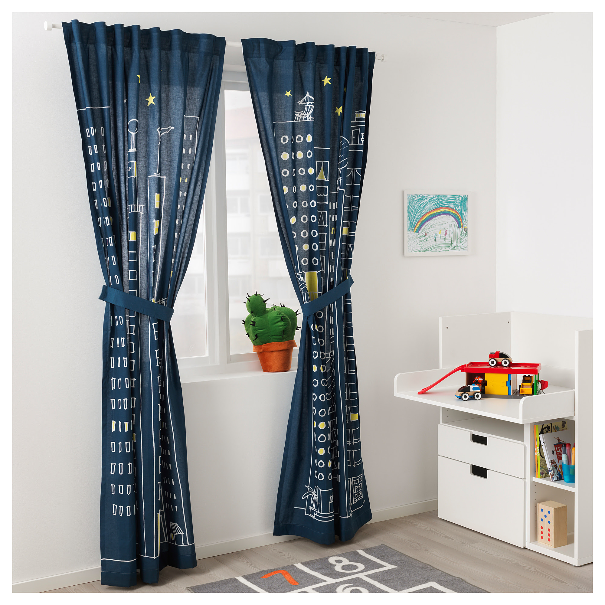 Dark Blue Curtains Bedroom Navy For Atmosphere Ideas White