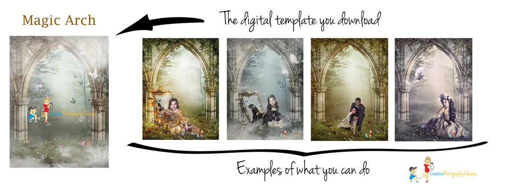 Creative Photoshop Ideas With Digital Backgrounds Magic Arch