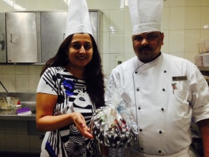 The perfect cake, Chef Sunil and I