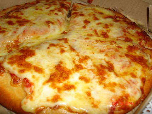 Triple Cheese Pizza.