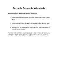 Carta De Renuncia Laboral Voluntaria Y Agradecimiento En