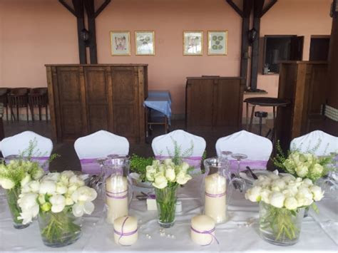 Civil Wedding   Table Arrangements   Annivia Gardens in