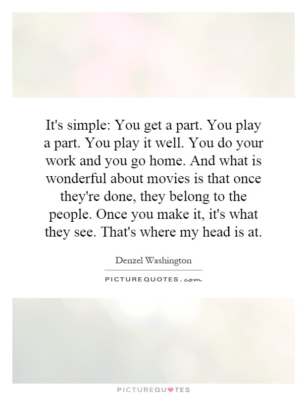 Playing Your Part Quotes Sayings Playing Your Part Picture Quotes