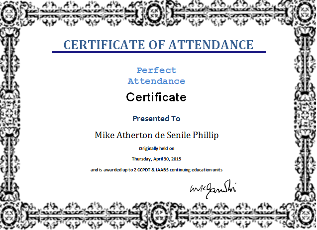 certificate templates  ms word perfect attendance certificate template word document templates