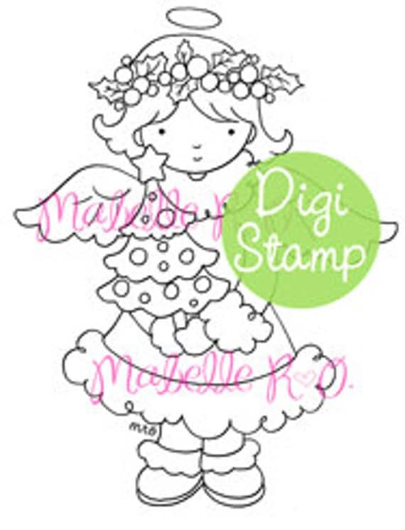 Instant Download Digi Stamp: Holly
