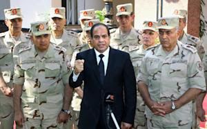 In this photo provided by Egypt's state news agency…