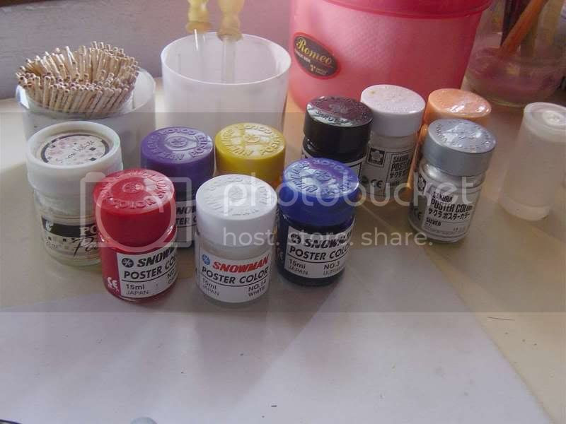 my 'gheto' paint set