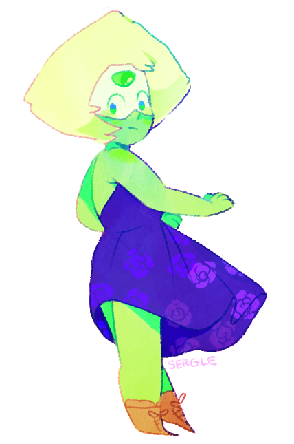anon requested peridot in dresses ✨ sticker sheet!