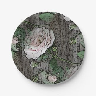 Roses 7 Inch Paper Plate