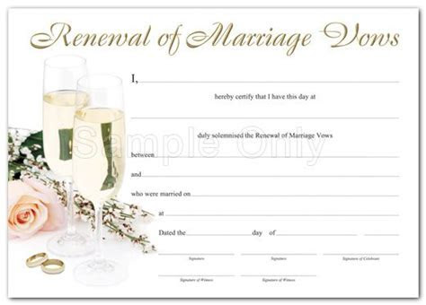 Design Your Own Wedding Certificate   Renewal of Marriage