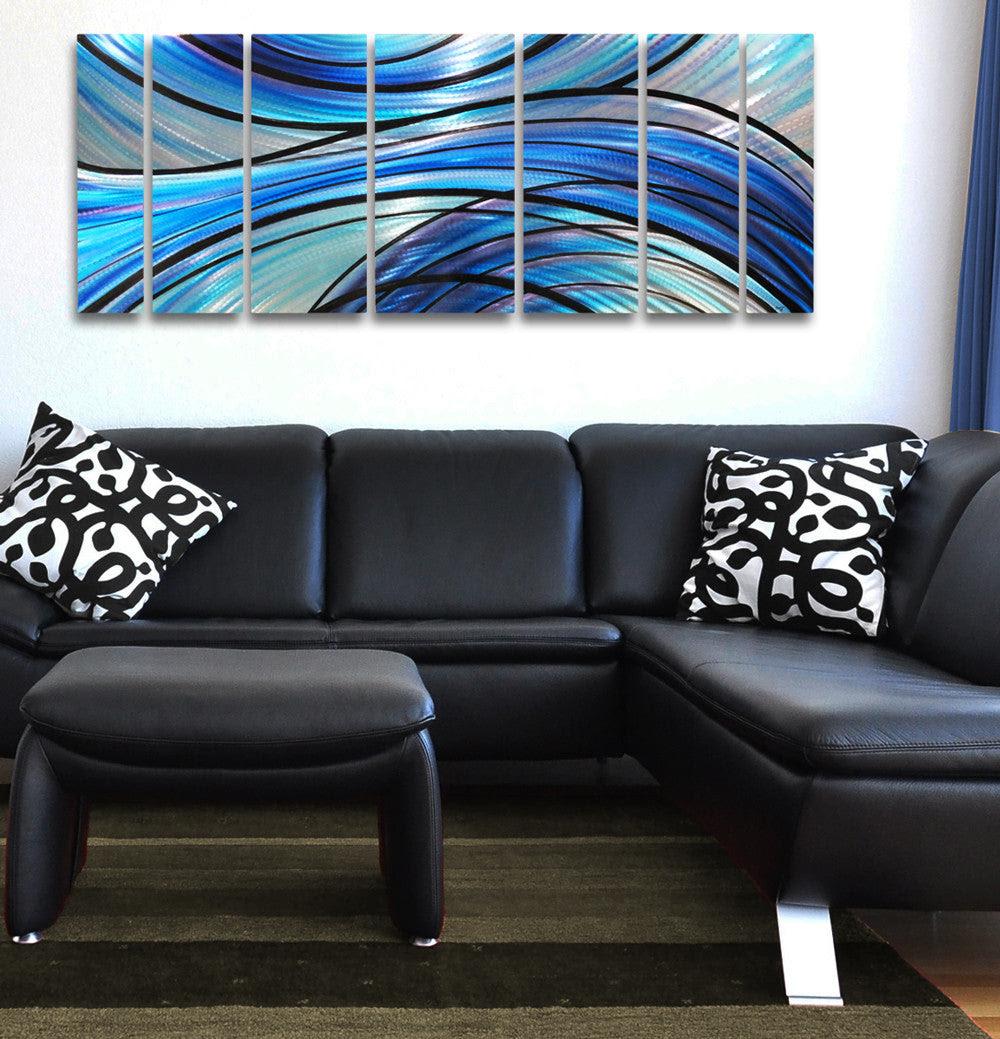 """""""Cascade"""" 68""""x24"""" Large Modern Abstract Metal Wall Art ..."""