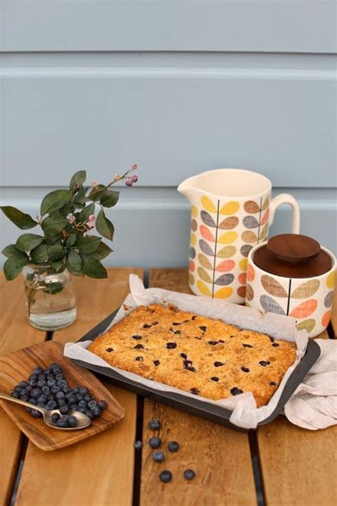 Blueberry Lemon Pan Cake. Jug and canister: Orla Kiely at