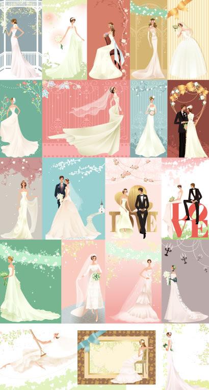 結婚式カップルドレス02のイラストaieps ベクタークラブ