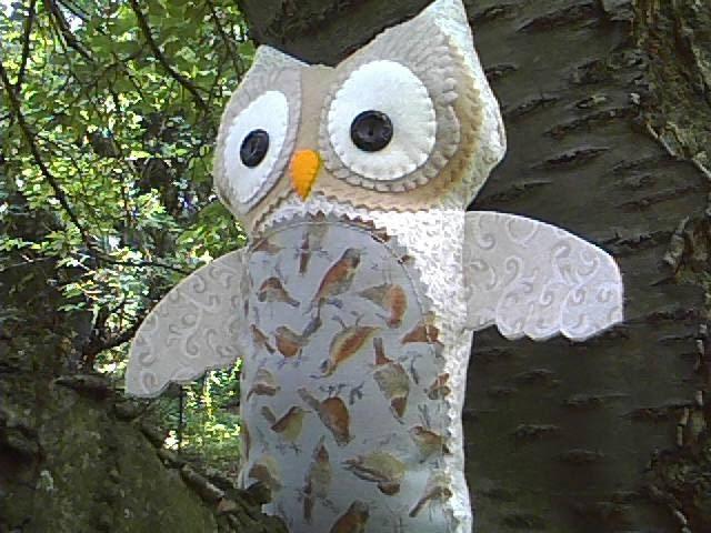 Absent Minded Professor Swarovski Plush Owl