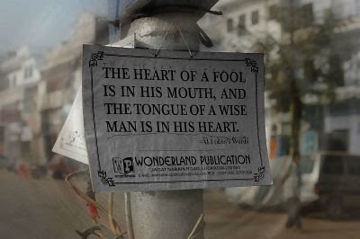 The Heart of a Fool is in his Mouth… by firoze shakir photographerno1