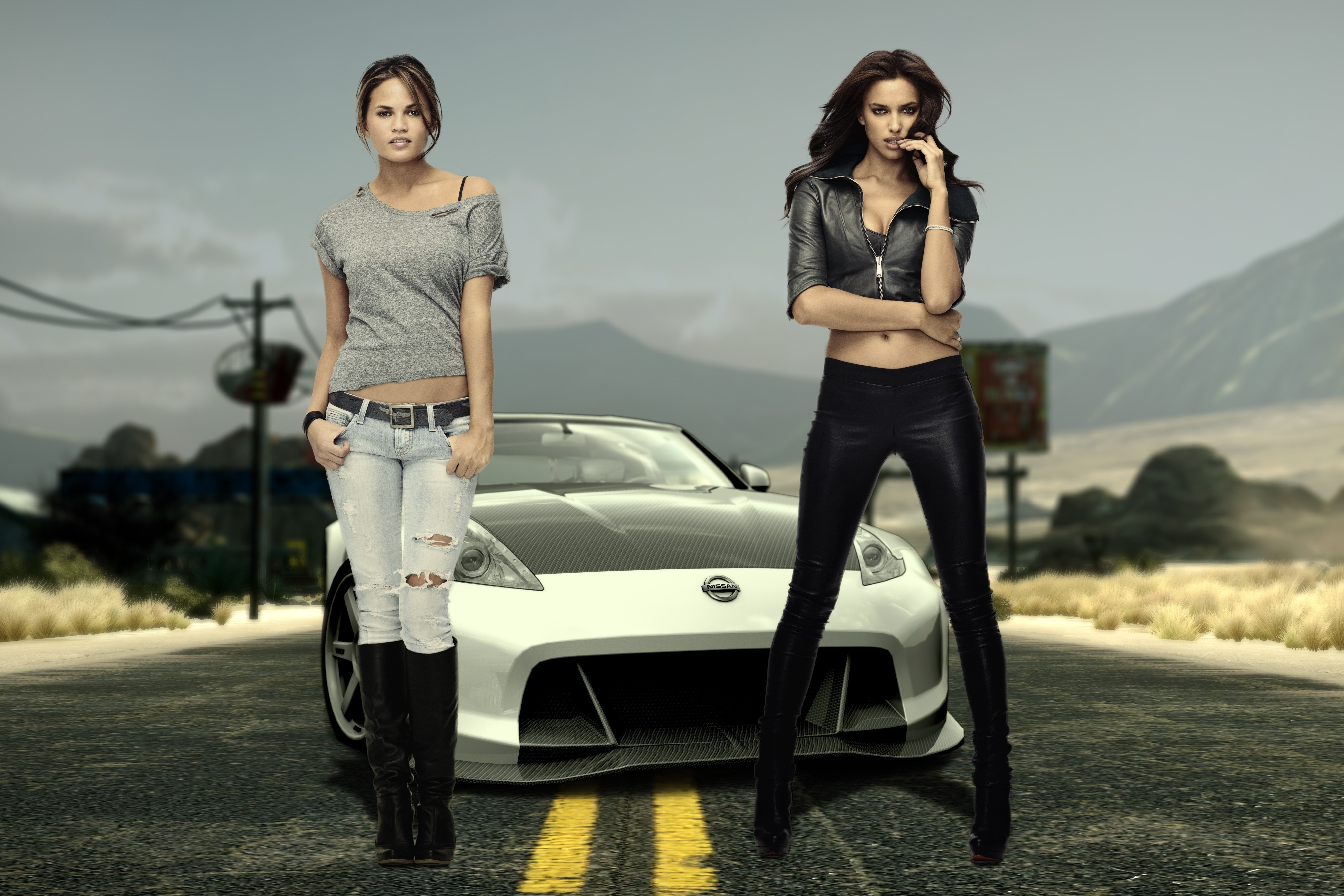 Women Cars Gas Station Girls With Cars 1920x1080 Wallpaper