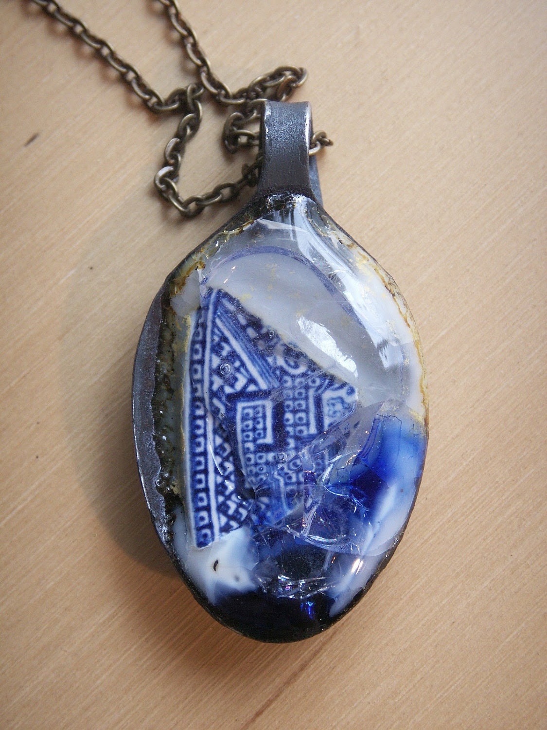 SPOONFULL Glass pendant - Willow Blue