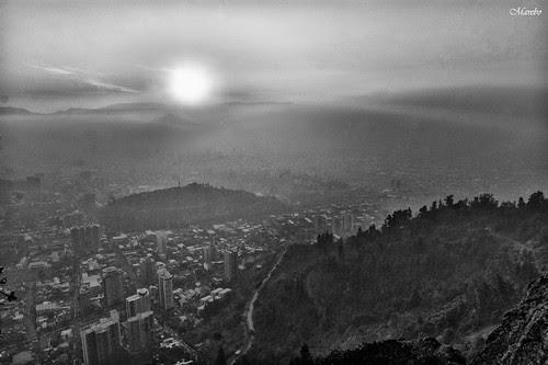 Santiago desde las Alturas by Alejandro Bonilla