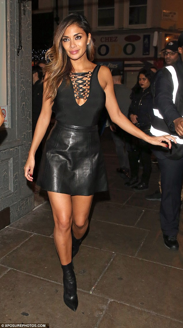 Nicole Scherzinger Is Sexy In A Lace Up Bodysuit And