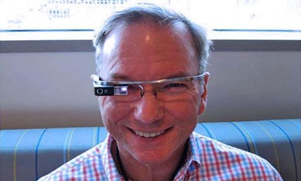 Google's Eric Schmidt admits talking to Glass is 'the weirdest thing'