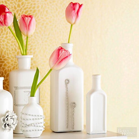 Jewelry-Embellished Vases