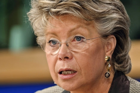 La Comisaria Viviane Reding. | ELMUNDO