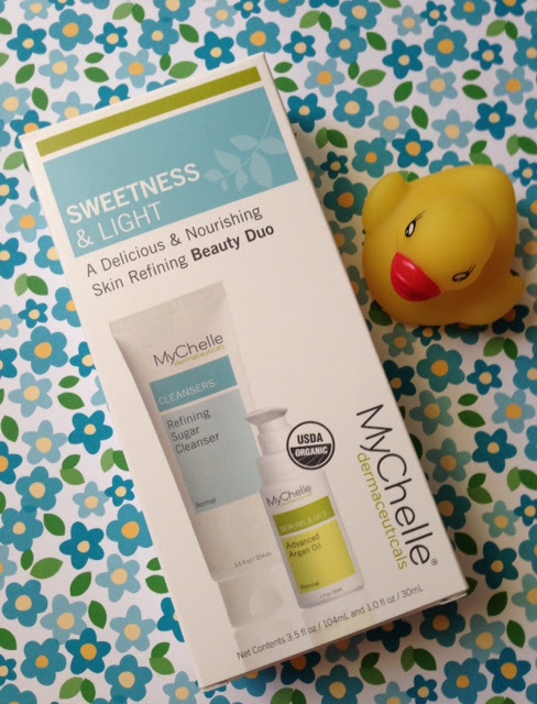 MyChelle Sweetness & Light Skin Refining Beauty Duo: cleanser and argan oil neversaydiebeauty.com @redAllison