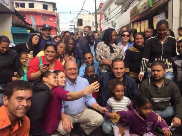 Doria e Alckmin em Paraisópolis na campanha: nunca mais voltou