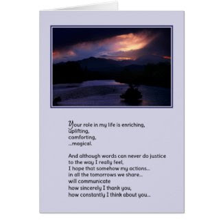 Your Role in My Life...Love Greeting Cards