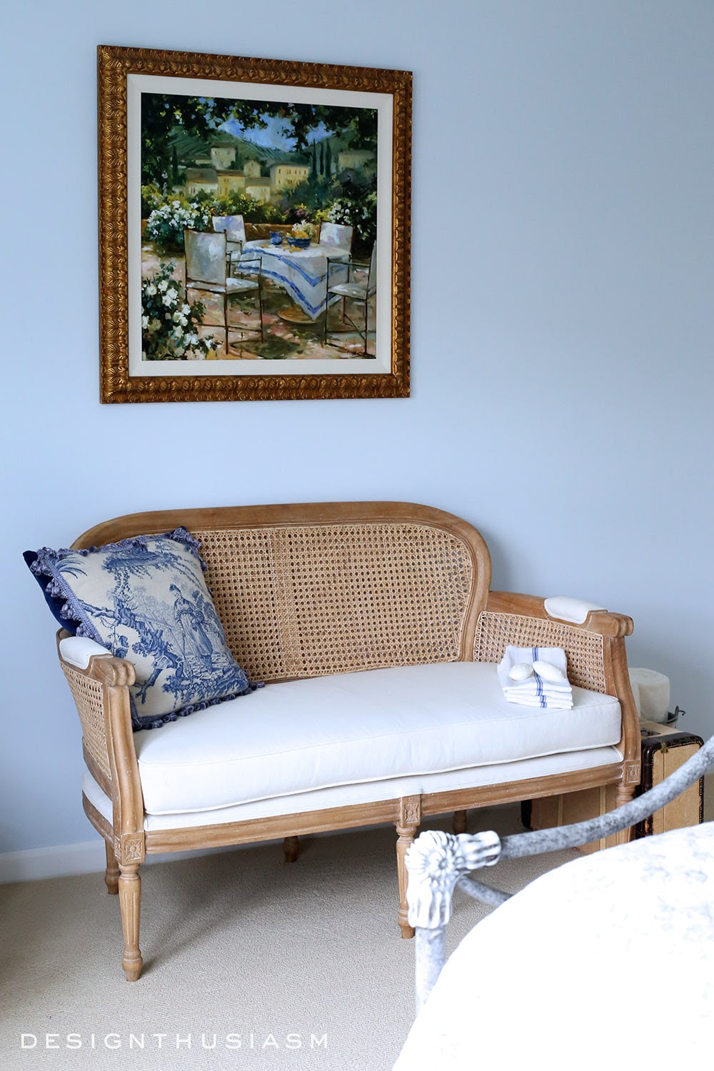French Blue Guest Room for a Bon Nuit | Designthusiasm.com