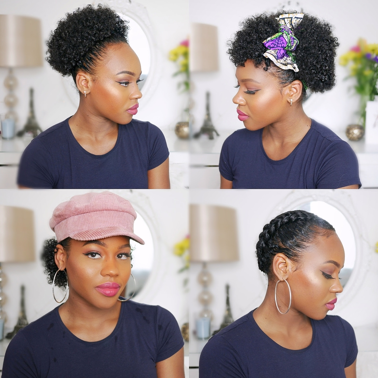 How To Style Short Natural Black Hair At Home