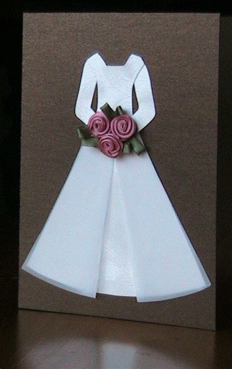 Little wedding dress Card   DIY   Inspirações / Paper Doll