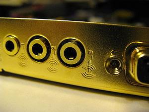 The I/O ports of the Creative Technology Sound...