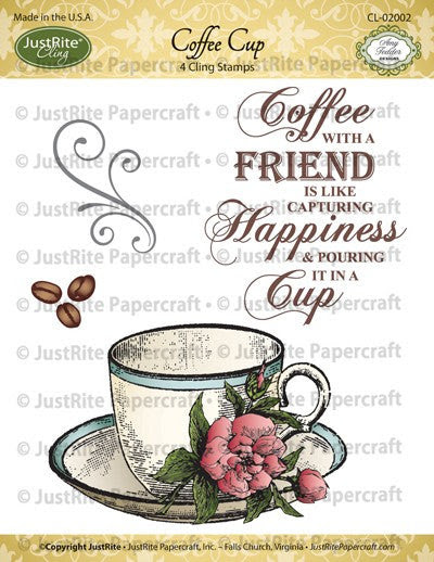 Coffee Cup Cling Stamp