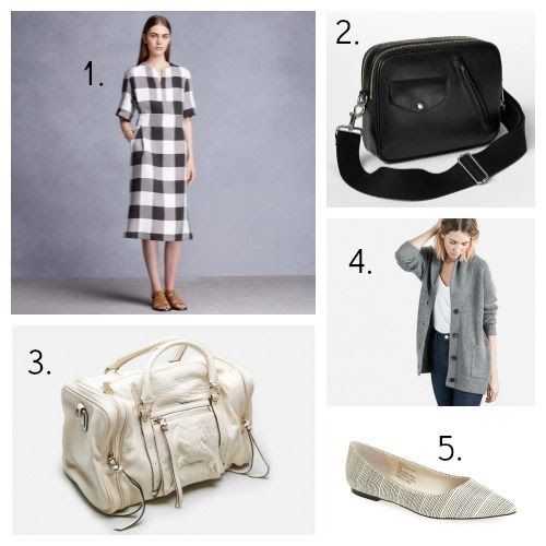Trademark Dress - Gap Handbag - MS by Martine Sitbon Handbag - Everlane Cardigan - Sole Society Flats