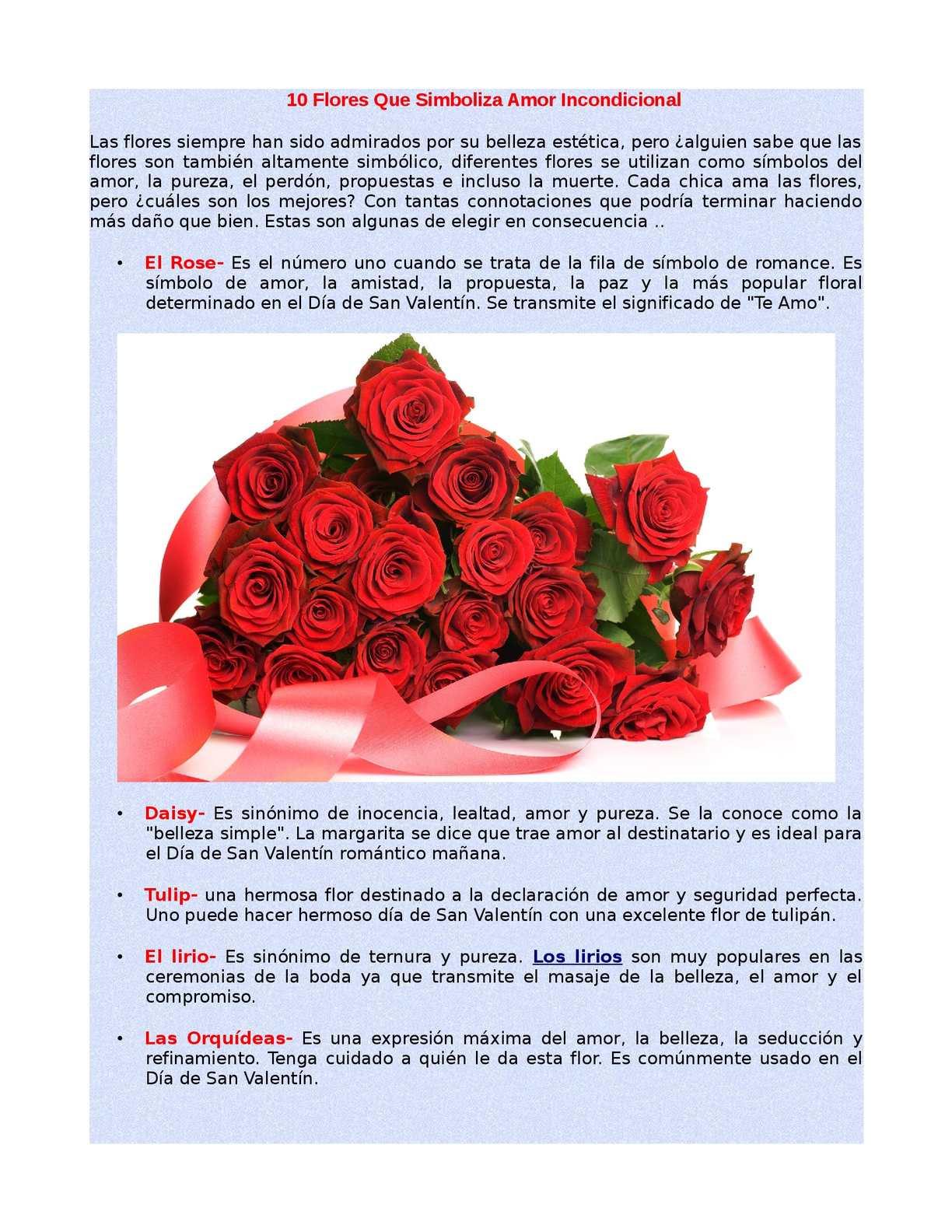 Calaméo 10 Flores Que Simboliza Amor Incondicional