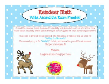 Reindeer Write the Room Addition