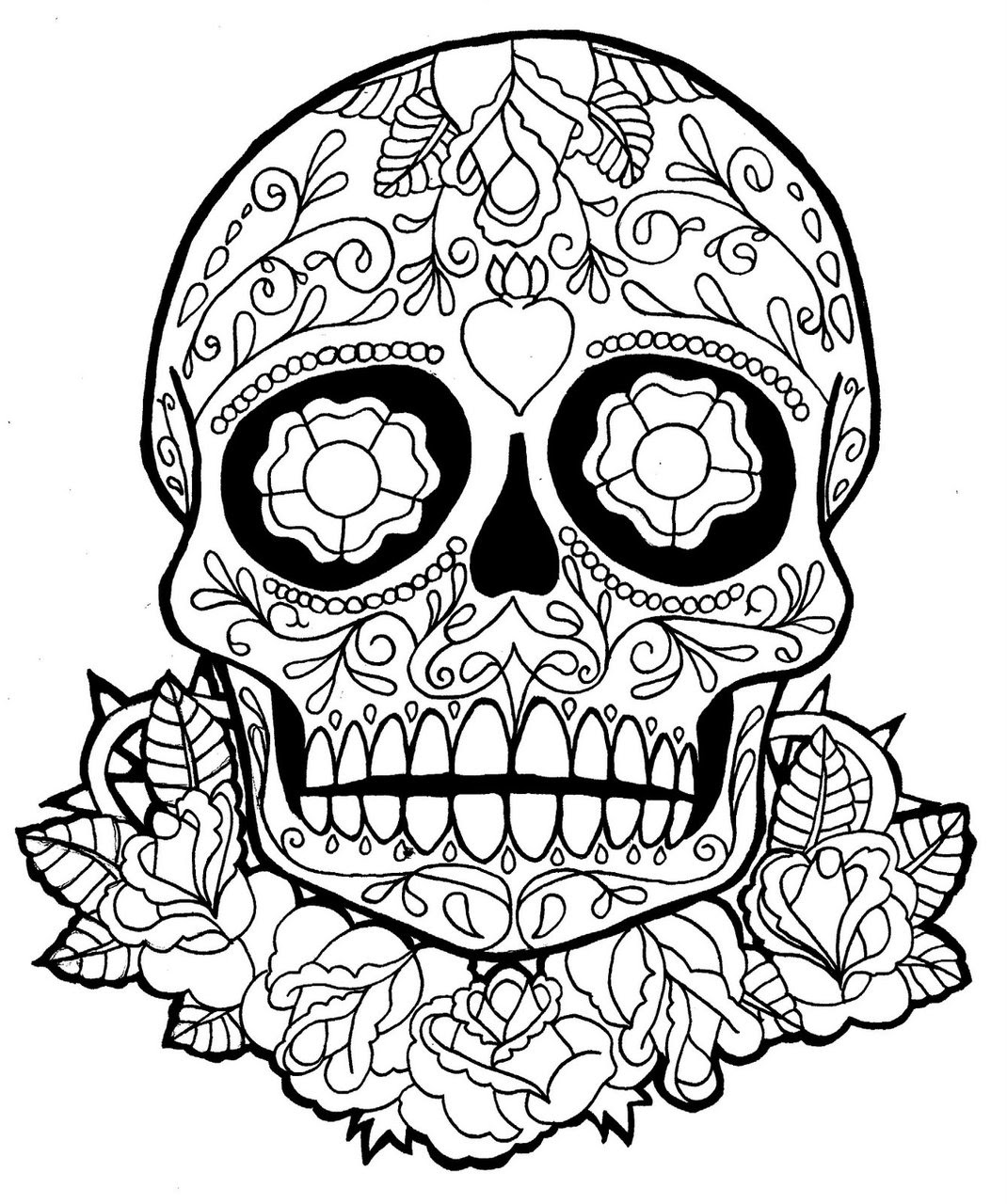 Calavera Drawing At Getdrawingscom Free For Personal Use Calavera