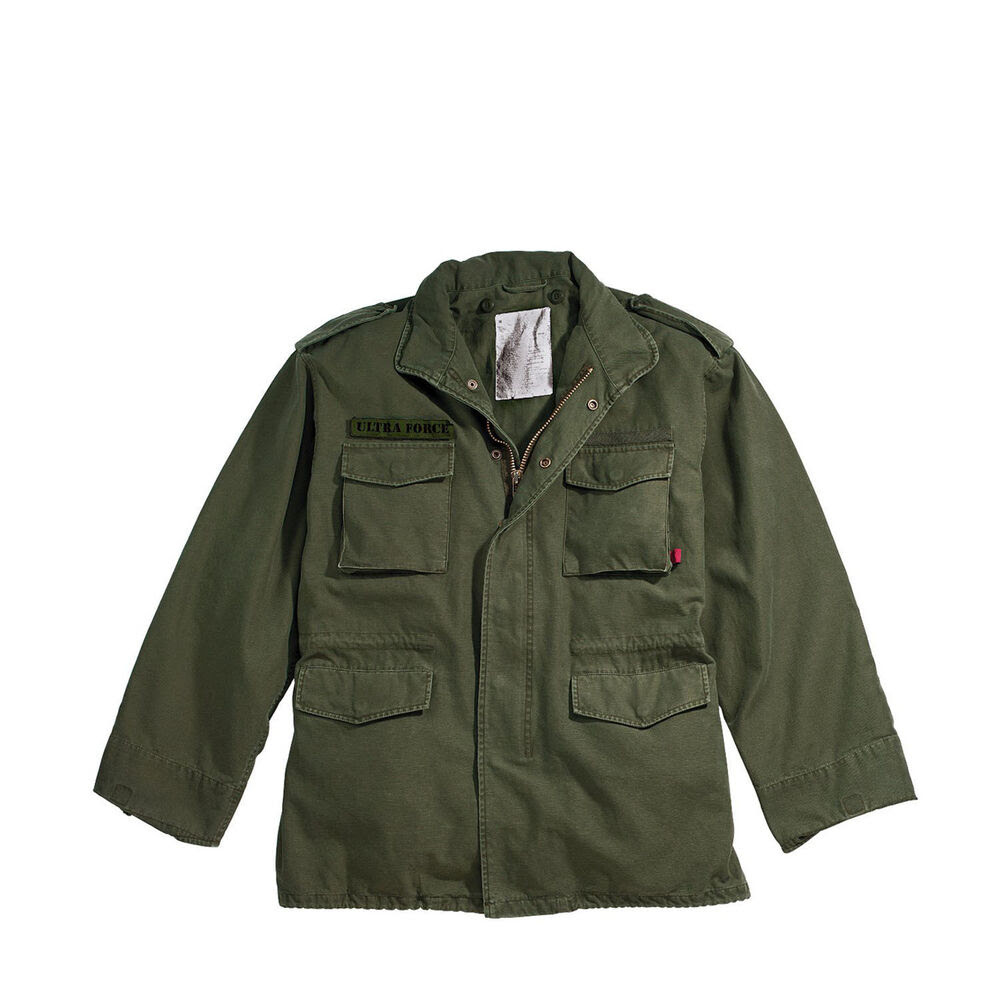 m65 field jacket vintage olive drab green military style