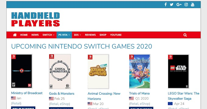 Upcoming Switch Games 2022