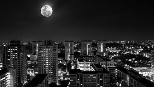 Supermoon in Singapore