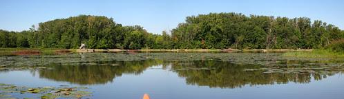 Parc de la Riviere-des-Mille-Îles, 11 September 11, looking towards the marsh from the south