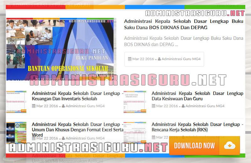 Administrasi Kepala Sekolah - Keuangan, Data Guru dan Siswa, RKS Lengkap