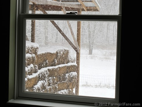 Snowfall through the upstairs windows 7 - FarmgirlFare.com