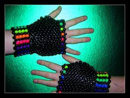 Kandi Glove: RAINBOW by ScottieRouge